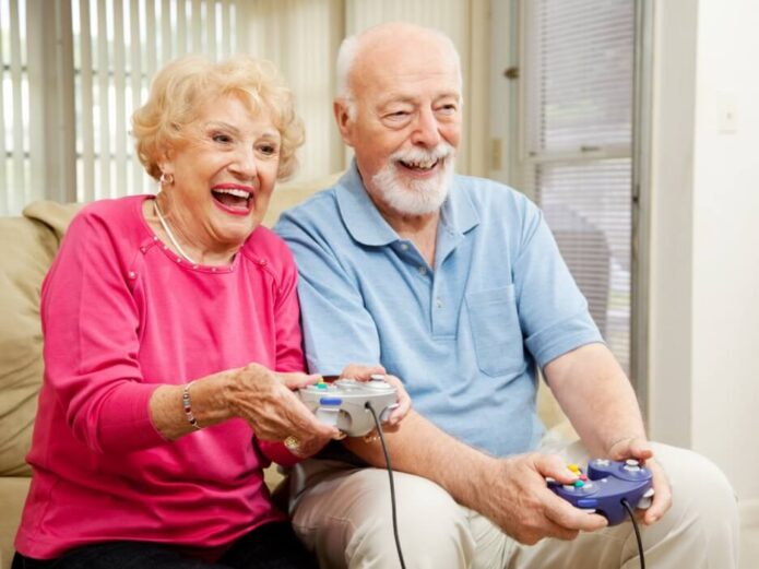 Older-adult-playing-games